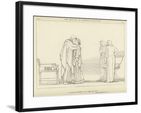 The Meeting of Ulysses and Penelope-John Flaxman-Framed Art Print