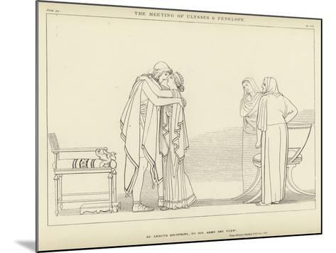The Meeting of Ulysses and Penelope-John Flaxman-Mounted Giclee Print