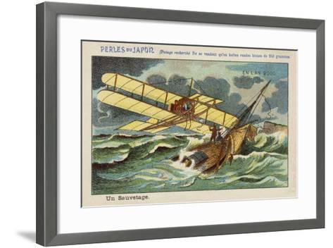 A Rescue at Sea in the Year 2000--Framed Art Print