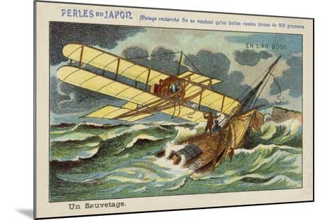 A Rescue at Sea in the Year 2000--Mounted Giclee Print