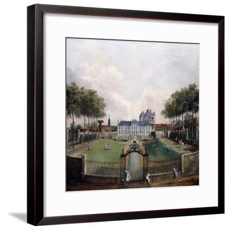 Views of the Chateau De Mousseaux and its Gardens-Jean-Francois Hue-Framed Art Print
