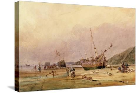Calais Sands, 1831-Francois Louis Thomas Francia-Stretched Canvas Print