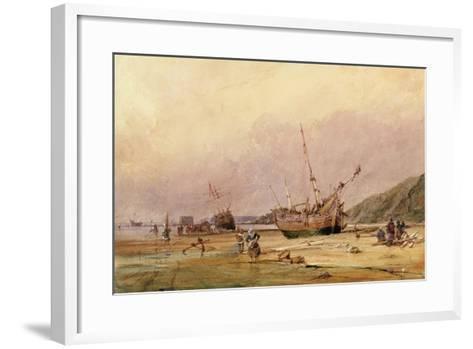 Calais Sands, 1831-Francois Louis Thomas Francia-Framed Art Print