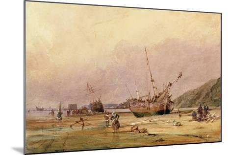 Calais Sands, 1831-Francois Louis Thomas Francia-Mounted Giclee Print
