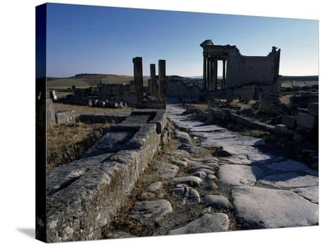 Ruins of Ancient Roman City--Stretched Canvas Print
