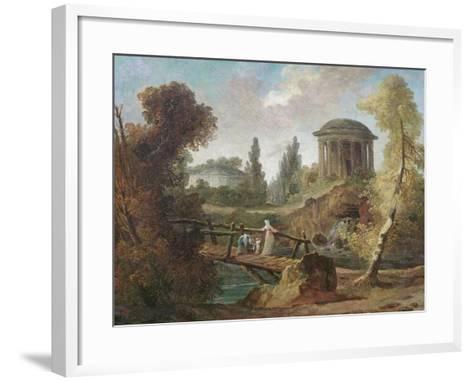 The Cascades at Tivoli, C.1775-Hubert Robert-Framed Art Print