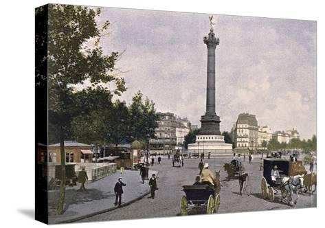 The Place De La Bastille, 1900--Stretched Canvas Print