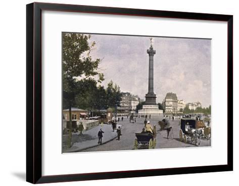 The Place De La Bastille, 1900--Framed Art Print