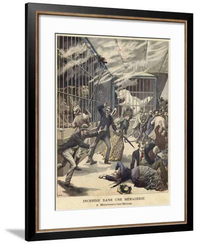 Fire in the Zoo at Montceau-Les-Mines--Framed Art Print