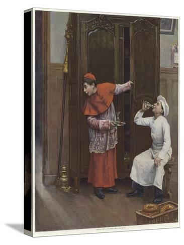 Two Young Boys Wearing Costumes-Paul Charles Chocarne-moreau-Stretched Canvas Print