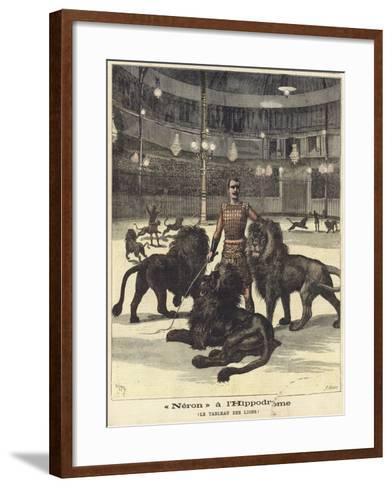 Neron at the Hippodrome--Framed Art Print