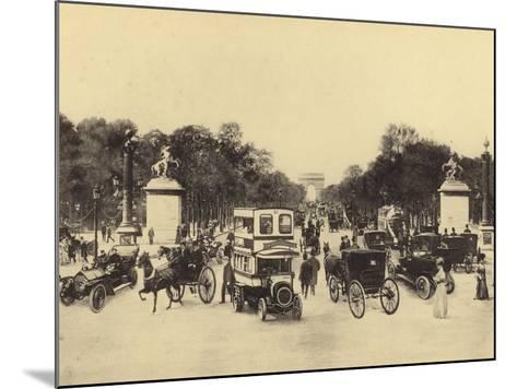 Avenue Des Champs-Elysees--Mounted Photographic Print