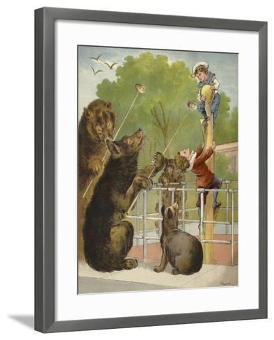 Bears Baiting Boys-Richard Andre-Framed Art Print