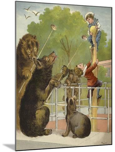 Bears Baiting Boys-Richard Andre-Mounted Giclee Print