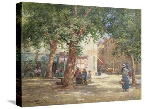 The Market Square-William Kay Blacklock-Stretched Canvas Print