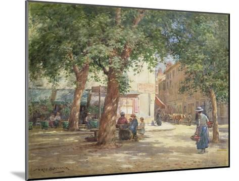The Market Square-William Kay Blacklock-Mounted Giclee Print