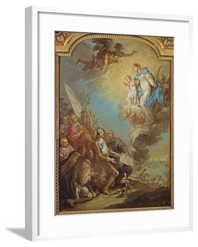 Study for Louis XIII-Carle van Loo-Framed Art Print