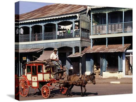 Horse and Cart, Mamyo, Myanmar--Stretched Canvas Print