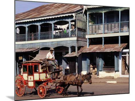 Horse and Cart, Mamyo, Myanmar--Mounted Photographic Print