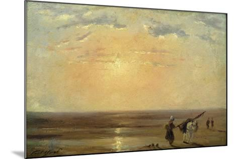 The Beach at Trouville with Setting Sun-Paul Huet-Mounted Giclee Print