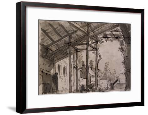 Set Design-Pietro Bertoja-Framed Art Print