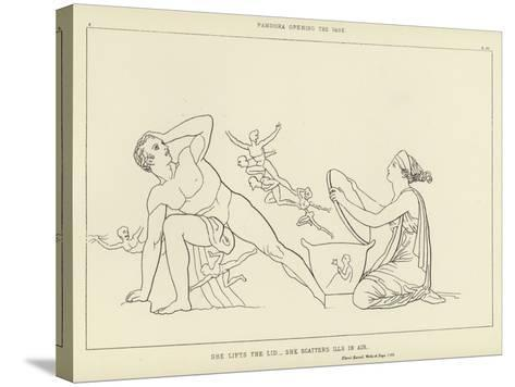 Pandora Opening the Vase-John Flaxman-Stretched Canvas Print