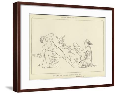 Pandora Opening the Vase-John Flaxman-Framed Art Print