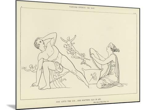 Pandora Opening the Vase-John Flaxman-Mounted Giclee Print