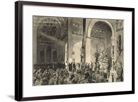 Christmas Celebrations in Flanders Church--Framed Art Print