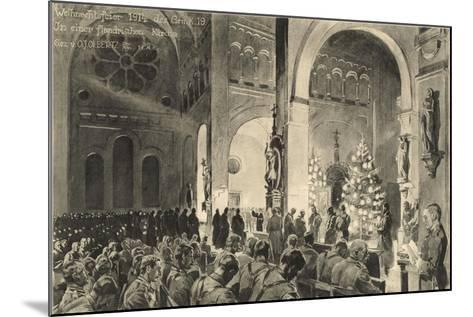 Christmas Celebrations in Flanders Church--Mounted Giclee Print