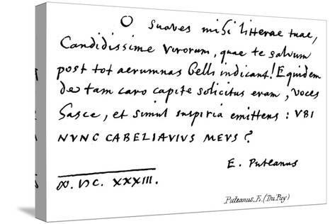 Puteanus, E--Stretched Canvas Print