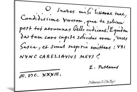 Puteanus, E--Mounted Giclee Print