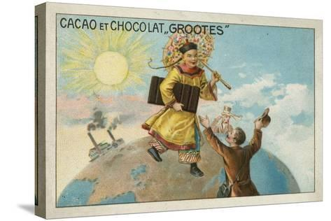 Advertisement for Grootes Cocoa and Chocolate--Stretched Canvas Print