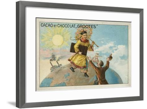Advertisement for Grootes Cocoa and Chocolate--Framed Art Print