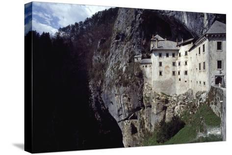 Predjama Castle--Stretched Canvas Print