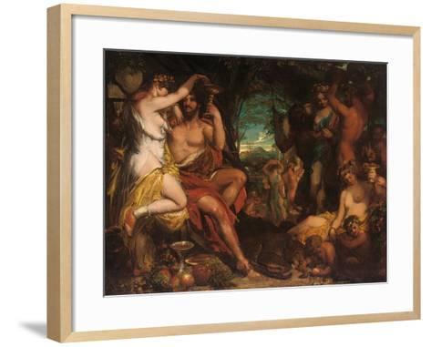 A Bacchanalian Revel-William Etty-Framed Art Print