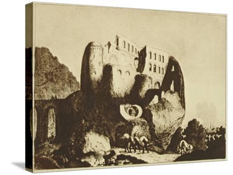 Le Coupe-Gorge Effrayant-Johann Michael Voltz-Stretched Canvas Print