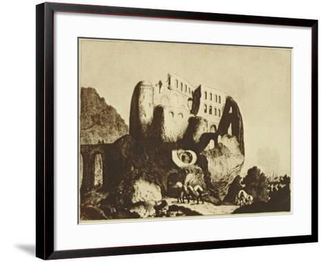 Le Coupe-Gorge Effrayant-Johann Michael Voltz-Framed Art Print
