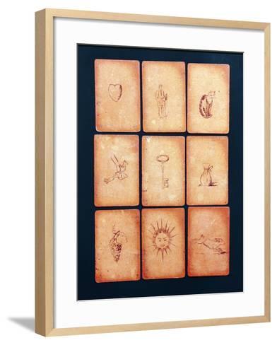 Gipsy Tarot Cards, Mid 20th Century--Framed Art Print