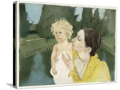 By the Pond, C.1898-Mary Cassatt-Stretched Canvas Print
