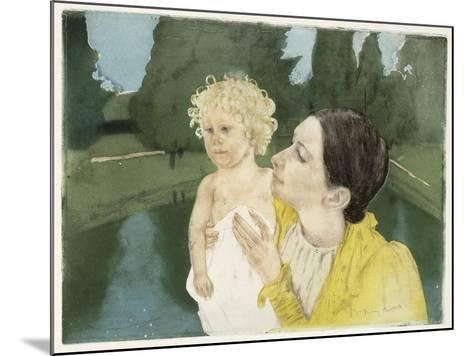 By the Pond, C.1898-Mary Cassatt-Mounted Giclee Print