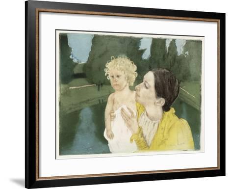 By the Pond, C.1898-Mary Cassatt-Framed Art Print