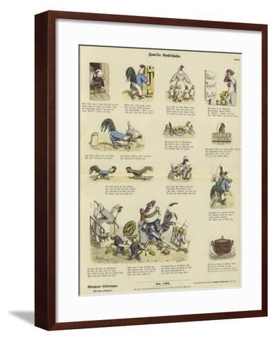 Chicken Family--Framed Art Print