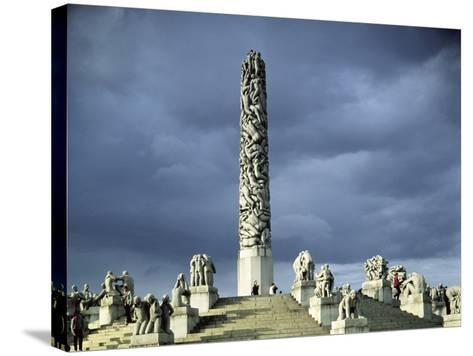 View of the Monolith Plateau, Built 1929-43-Gustav Vigeland-Stretched Canvas Print