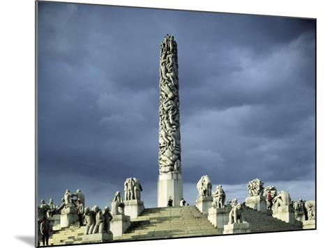 View of the Monolith Plateau, Built 1929-43-Gustav Vigeland-Mounted Photographic Print
