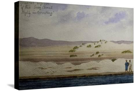 Suez Canal, from Frederick Stibbert's Sketch Book--Stretched Canvas Print
