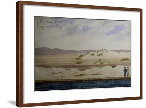 Suez Canal, from Frederick Stibbert's Sketch Book--Framed Art Print
