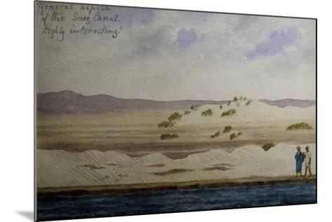 Suez Canal, from Frederick Stibbert's Sketch Book--Mounted Giclee Print