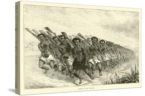 Maori War Dance--Stretched Canvas Print