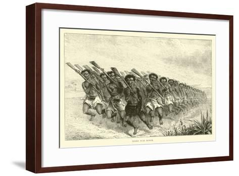 Maori War Dance--Framed Art Print